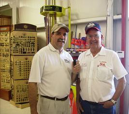 Bob Connell and Mr F.L. Davis talk about the Celebration