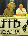 Dale and Rich sign folks up for giveaways
