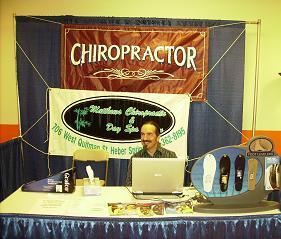 Dr Matthews of Matthews Chiropractic greets folks