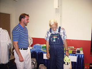 John Paxton enjoys a laugh with everyone