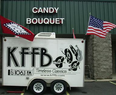 KFFB on Location at Candy Bouquet