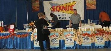 Sonic setting up for a big crowed