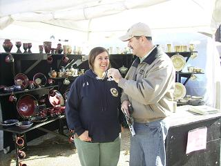 Amanda Walrod of the Blanchard Springs Caverns and Bob Connell talk about the Festival