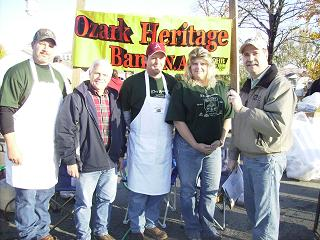 Ozark Heritage Bank and Bob take time out for a picture