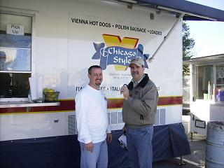 Vender Ken Konopinski with Chicago Style and Bob Talk about Food
