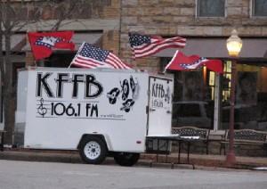 KFFB on Location at Folk Fest 2011