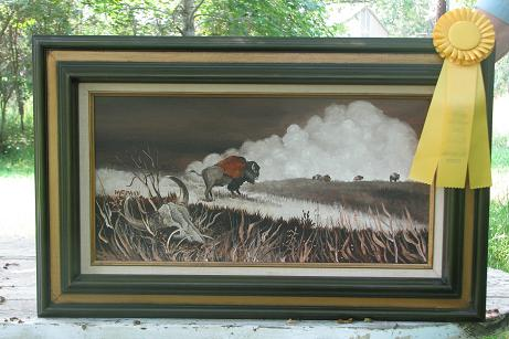 "Prairie Remnants"" by artist Joyce Hartmann, Choctaw"