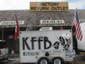 KFFB 106.1 on Location at Factory Return Outlet