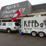 KFFB 106.1 on Location at Bread of Life Book Store and Marks Pharmacy in Melbourne August 17