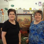 Phillis and Tammy take time out for a pciture at Bread of Life