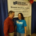 Vic at the White River Medical Center Booth
