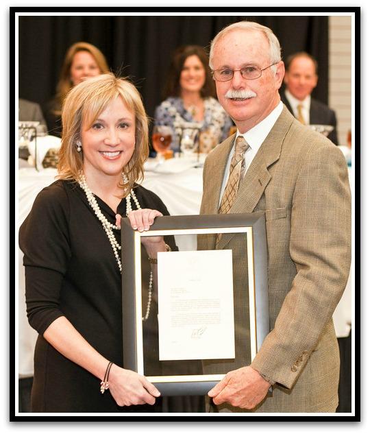 (Above) Governor's Award for Volunteerism, Dr. Larry Jernigan