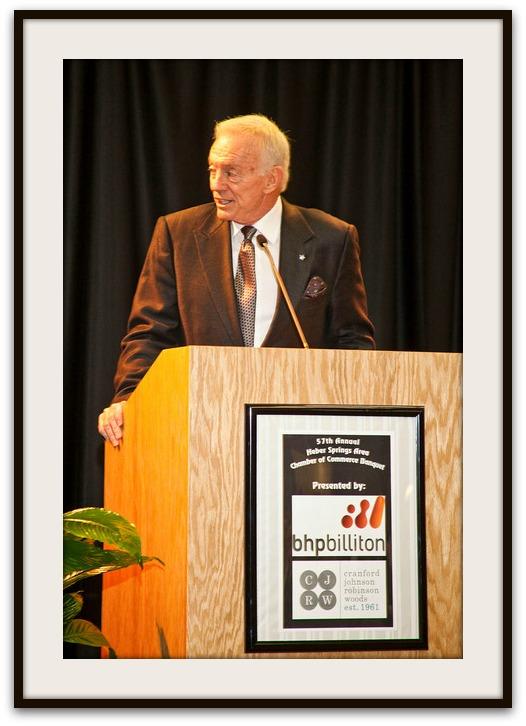 (Above) Keynote speaker Jerry Jones owner of the Dallas Cowboys