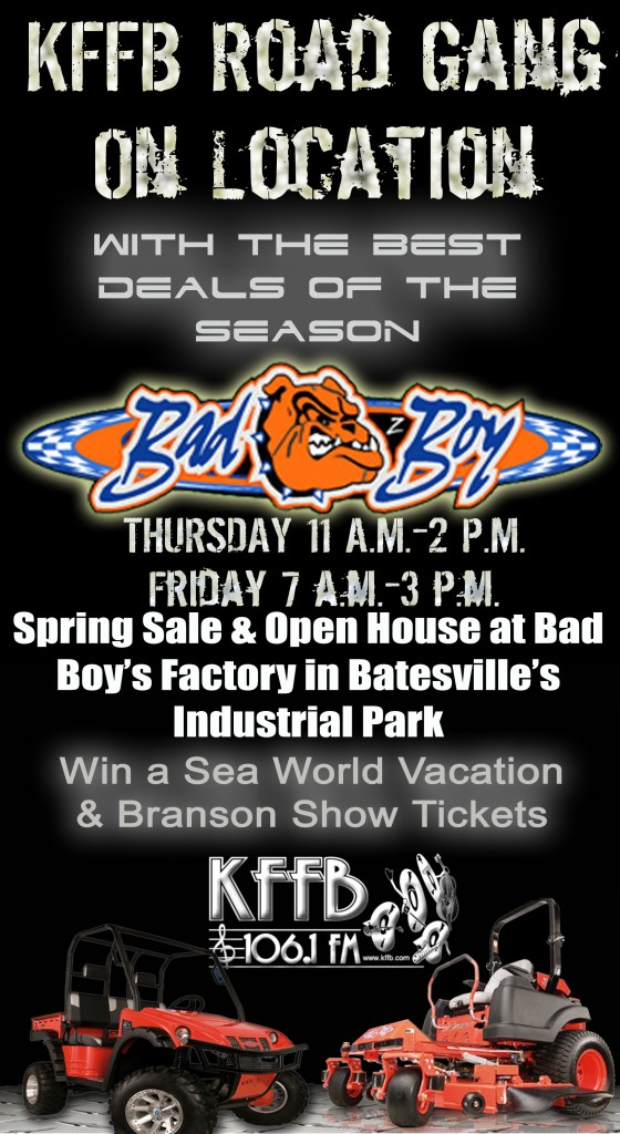 Bad Boy Open House Spring Sale and Open House 2013