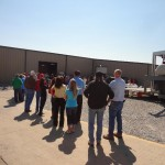 Folks line up for Fish on Friday