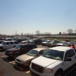 Folks park everywhere to take part in Bad Boys Open House