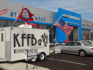 KFFB 106.1 on Location at Stanley Wood Chevrolet Grand Opening April 6, 2013