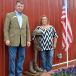 Citizens Bank President Phil Baldwin (right) with Cara Baxter (left)