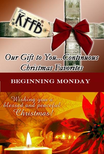 KFFB 106.1 Continuous Christmas Beginning Monday
