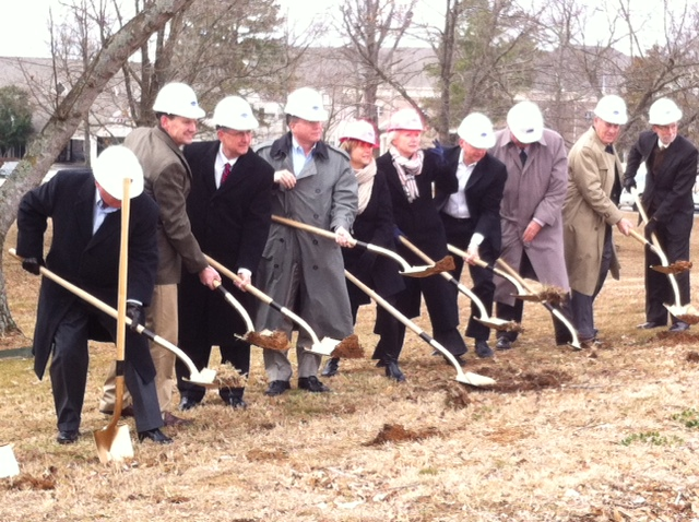 Ground breaking ceremony for the Woodcrest facility
